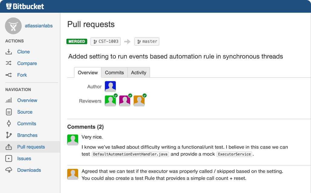bitbucket dashboard - top project management tool