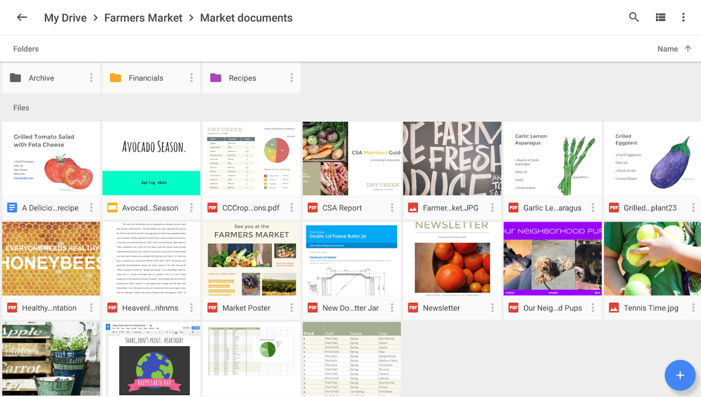 google drive dashboard - top project management tool
